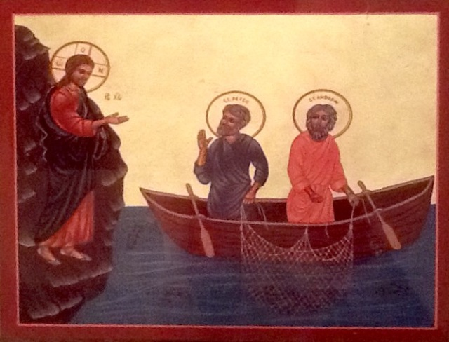 icon of Jesus calling the fishermen