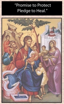 icon of jesus with the children