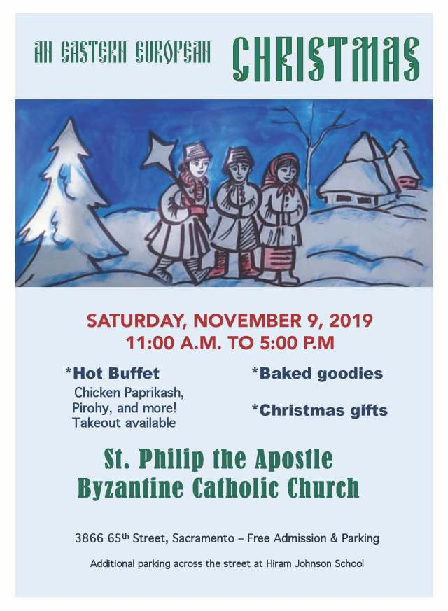 Christmas event on Saturday, November 9, 2019, from 11a.m. to 5 p.m. Hot food, baked goods, Christmas gifts. Family friendly.